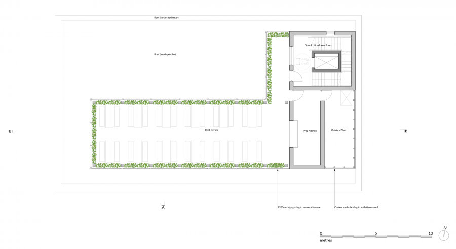 1920 P120 Proposed Roof Terrace Plan